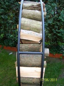 Stojak metalowy dla drewna